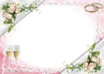 Transpa Pink Wedding Frame With Bubbly Gl Gallery - Wedding Transparent Photo Frame, HD Png Download