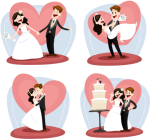 Wedding Couple Vector And Transparent Png The Graphic - Cartoon Drawing Child Marriage, Png Download