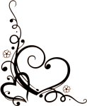 Arabesco Png - Wedding Heart Clipart Black And White, Transparent Png