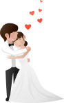 Transparent Wedding Love Each Other Transprent Png - Png Wedding Couple, Png Download