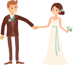 Wedding Clipart Png Image - Wedding Anniversary Card With Name, Transparent Png