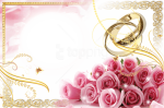 Best Stock Photos Transparent Wedding Frame With Rings - Wedding Borders And Frames, HD Png Download