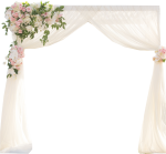 Simple Chiffon Wedding Arch Arbor - Canopy, HD Png Download