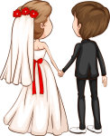 4815 X 5936 4 - Wedding Couple Clipart Vector, HD Png Download
