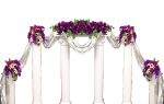 Wedding Arch Flowers Png, Transparent Png
