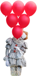 Balloons Clipart Pennywise - Pennywise With Balloon Png, Transparent Png
