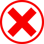 Red Cross Mark Clipart Green Checkmark - Red X In Circle, HD Png Download