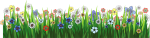 Grass Ground With Flowers Png Picture - Flower Garden Cartoon Png, Transparent Png
