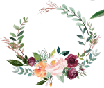 Green Watercolor Wreath With Flowers - Green Watercolor Flowers Png, Transparent Png