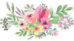 #ftestickers #watercolor #flowers #floralswag #pink - Transparent Background Watercolor Flowers Clipart, HD Png Download