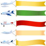 Graphics Vector Banner - Airplane With Banner Png, Transparent Png