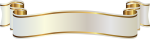White And Gold Banner Png Clipart Image - Banner Ribbon Png Template, Transparent Png