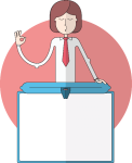 Presentation Slide With A Woman Note Template - Cartoon Note Template, HD Png Download